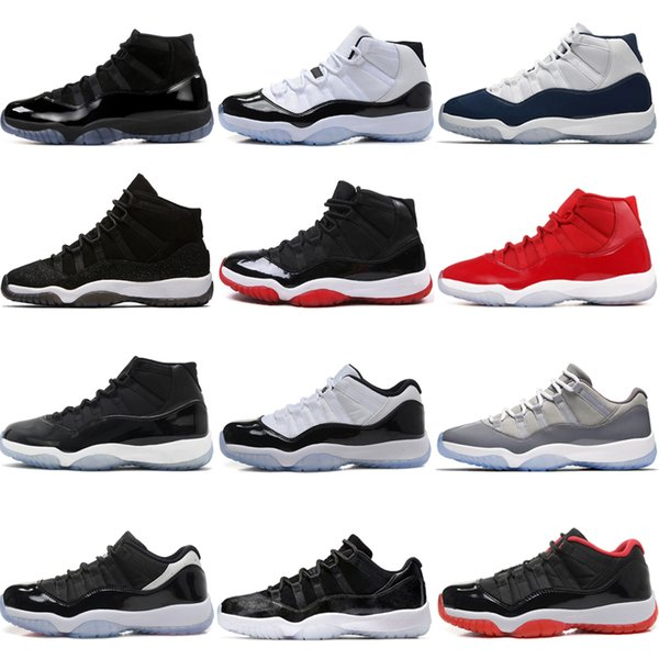 11 11s Cap and Gown Prom Night Men Basketball Shoes Platinum Tint Gym Red Bred PRM Heiress Black Stingray Barons Concord mens sport sneakers