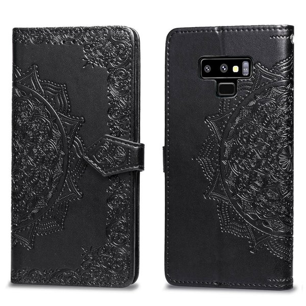 Multifunction flowers Wallet Leather Cases Datura pattern case For Iphone X XR XS MAX 8 7 6 6S Galaxy Note 9 J4 J6 S9 ID Slot Lace PU Pouch