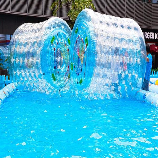 Giochi D Acqua.Acquista Water Roller Molti Giochi D Acqua Di Dimensioni Diverse Nel Parco Lago Rviver Rullo D Acqua Parchi Parchi Acquatici Lago O Attivita Di