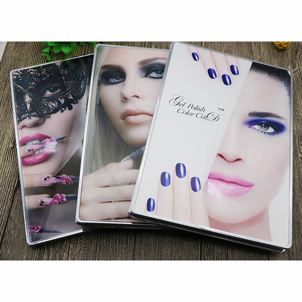 Nail Art Book Acrylic Nail Gel Polish Display Card Color Board Salon Manicure Tools With Full Nail Tips