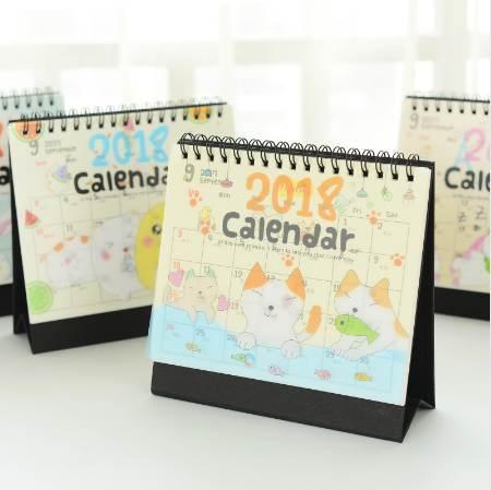 best selling Cute Cartoon Animals Mini Table Calendars Creative Desk Planner Calendar September 2017 to December 2018