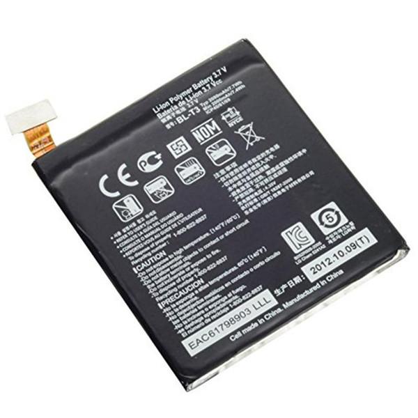 Genuine 2000 mah alta capacidade interna recylable bateria de substituição bt-t3 bl t3 para lg optimus vf lgf100l f100s f100s frete grátis