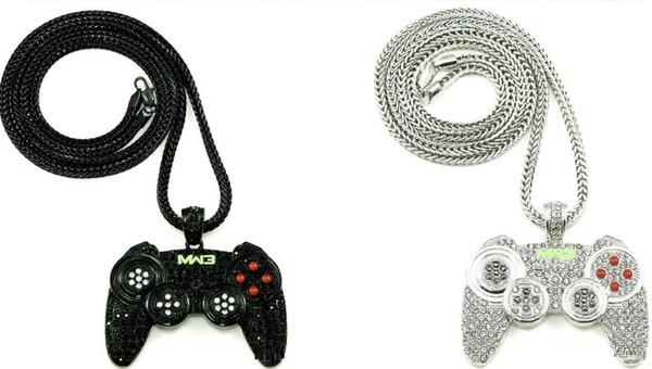 Außenhandel Halskette europäischen und amerikanischen populären populären Logo Hip Hop HIPHOP Schmuck Qualität Legierung Super Spiel Konsole Anhänger.