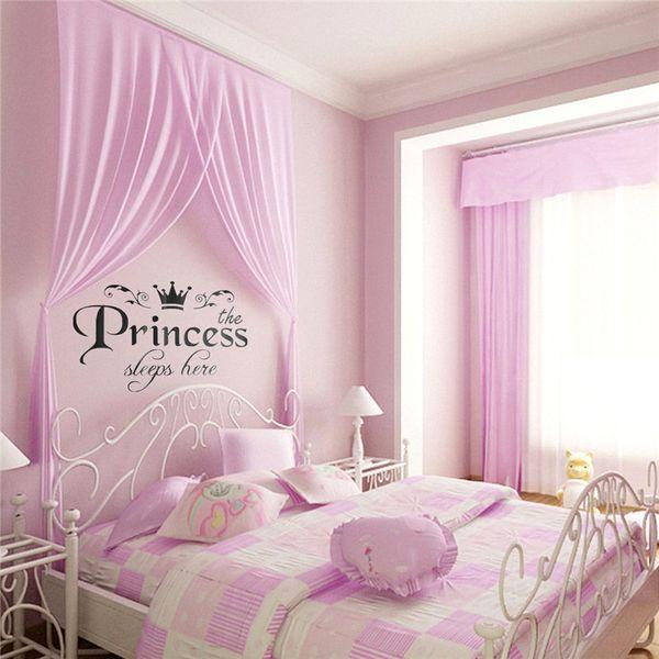 Acheter Nouvelle Arrivée DIY Amovible Princesse Dors Stickers Muraux ...