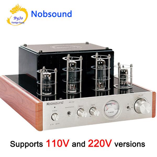 Nobsound MS-10D Amplificateur de tube Hifi Amplificateur de puissance audio stéréo 25W * 2 Tube vide Tube AMP et prise en charge de casque 110V ou 220V