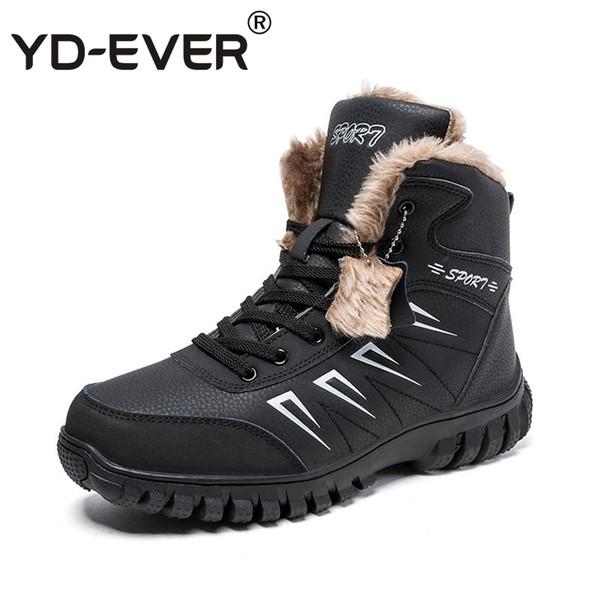 Compre 2019 YD EVER Tallas Grandes Botas Para La Nieve Zapatillas De Deporte Para Hombres Mantener Abrigos De Invierno De Piel Cálida Para Hombres