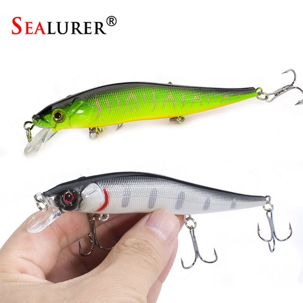 1PCS Minnow 11.5cm 13.2g Hard Bait Fishing Lures 5 colori esche da pesca