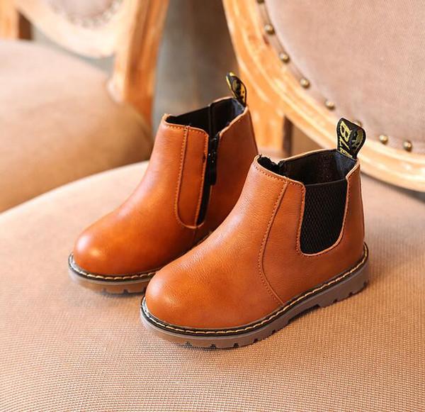 Bébé Tout Enfants Martin Chaussures En Cuir Enfants Bottes Hiver Pour Automne Noir Garçon De Filles La PU Bottes Petit Oxford Mode Bottes Acheter hsQCtdrx