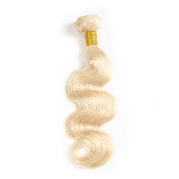 Body Wave 613 Blonde Brazilian Human Hair Weave Bundles Minimum Order Quantity is 1 Piece Can Use FedEx to Ship