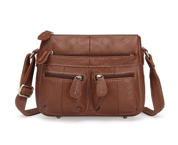 Patchwork Genuine Leather Women's Handbags 100% Cowhide Shoulder CrossBody Bags Ladies Casual Soft Flap Women Messenger Bags