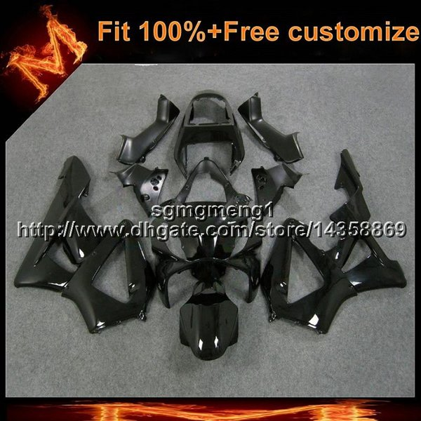 23colors8Gifts Injection mold glossy black Body Kit motorcycle cowl for HONDA CBR929RR 2000-2001 CBR 929 RR 00 01 ABS Plastic Fairing