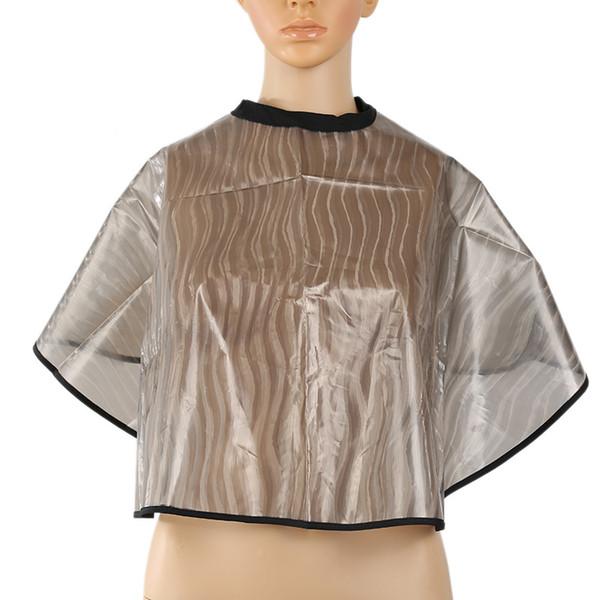 PVC Transparent Waterproof Dye Hair Scarf anti static Shampoo Shawl Fashion Folding Cutting Cape For Salon