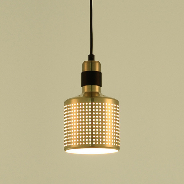 Modern D12cm Decorative Copper Bronze Color Single Metal Pendant Light Kitchen Lights Fixture For Bar Bedroom Coffee Shop Chandelier Table Lamps Black