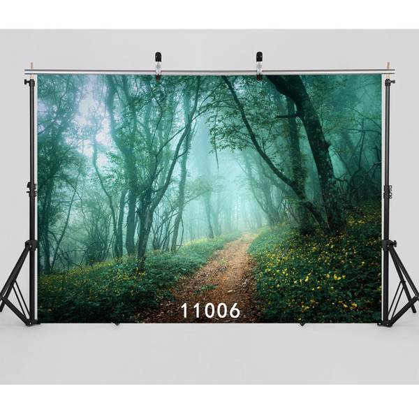 Background for Photos Children Mushroom Swing Computer Printed Vinyl Photography Backdrops Photocall for Weddings Children Baby Moive theme