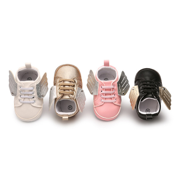 Newborn Baby First Walkers Shoe Infant Toddler Pony Wing Toddler Boots Boy Girl Angel Wings Booties Shoes Prewalkers 4 Colors