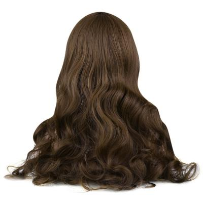 Long Middle Part Fluffy Loose Wave Synthetic Wig BLACK BROWN WINE RED