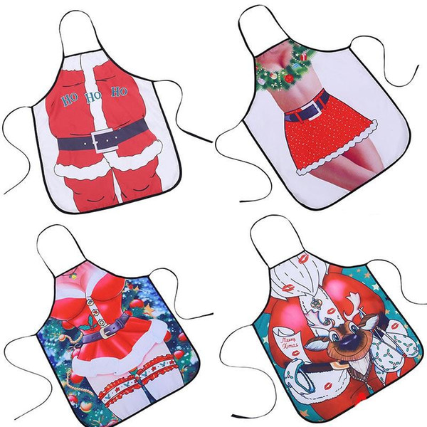 Novelty 3D Santa Apron Waterproof Practical Cloth For Kitchen Durable Fun Girl Aprons Many Style Choose Hot Sale 8yq ZZ