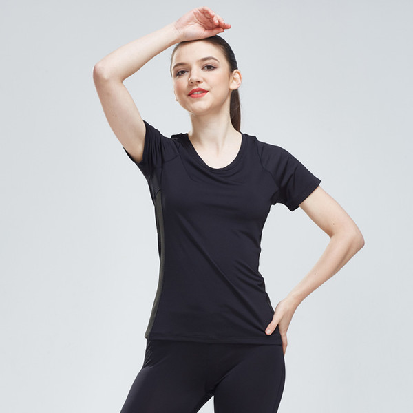 Shirt Sport Women Quick Dry Running Compression Tights T-Shirt Women Yoga Jersey Workout Breathable Mesh Training Short Sleeves