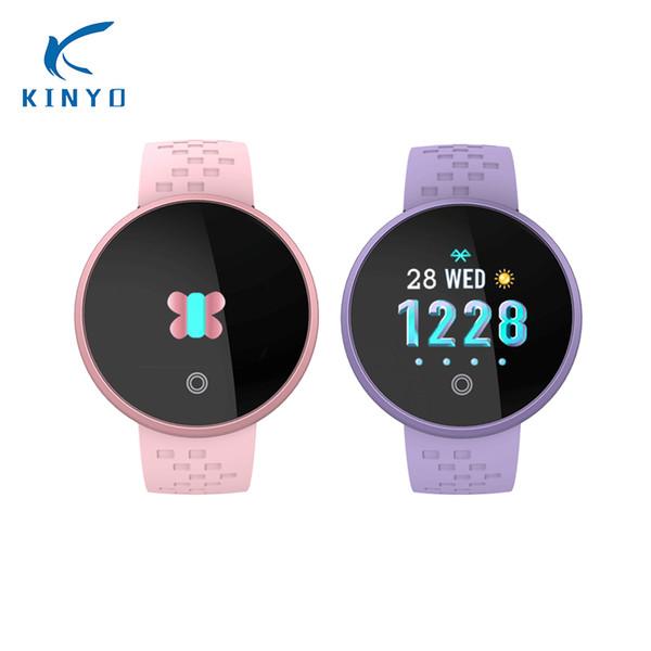 Heart Rate Smart Band Waterproof IP68 Smart Bracelet Women 2018 Watch Female Period Reminder Wristband KINYO long standby