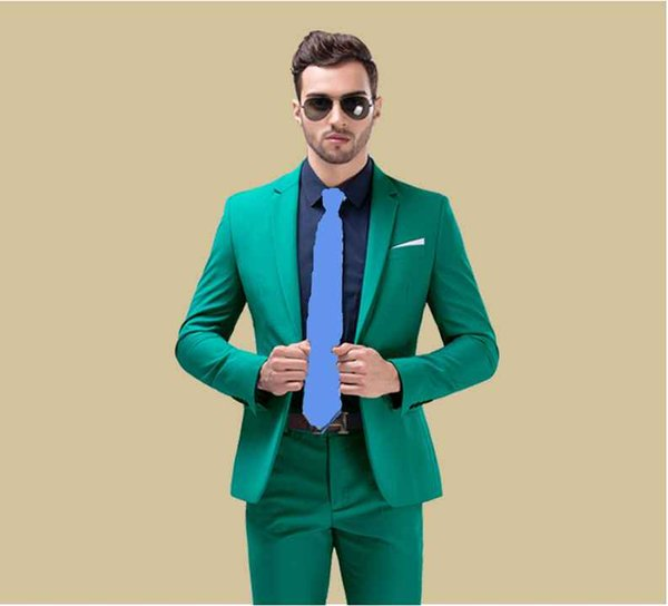 High Quality One Button Groom Tuxedos Groomsmen Notch Lapel Best Man Blazer Mens Wedding Suits (Jacket+Pants+Tie) H:838