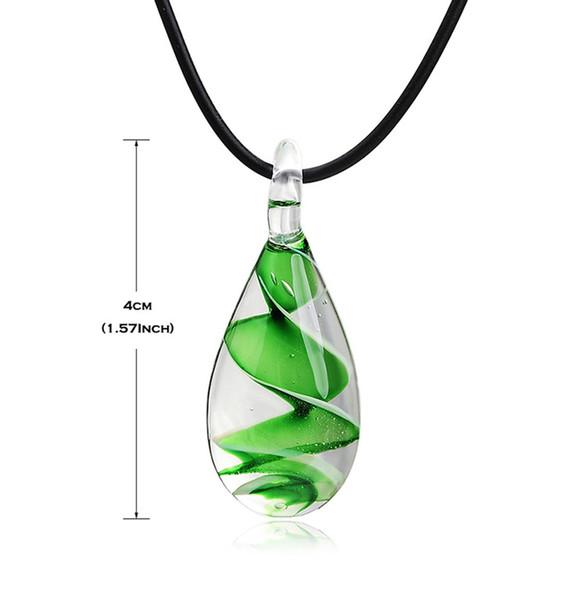Collier pendentif de mode Inspiration fleur intérieure spirale