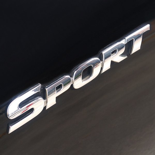 3D ABS Chrome Logo Car Sticker SPORT Emblem Badge Door Decal Auto Accessories for Toyota Highlander BMW HONDA VW KIA Car Styling