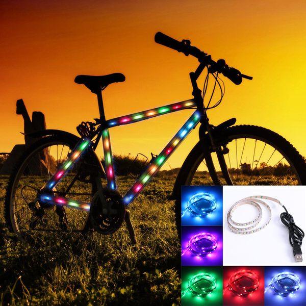 USB-кабель DC5v 3528 RGB светодиодных полос света PCB 60LED / м полосы лента лампа + пульт дистанционного USB-контроллера Mood Light для ТВ фона