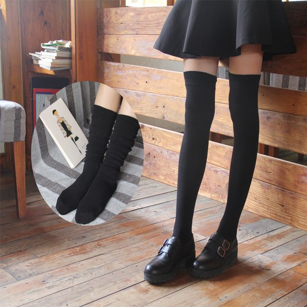 1 Pair Fashion Women Over the Knee Socks Sexy Warm Thigh High Long Cotton Stockings For Female Girls Ladies calcetines mujer