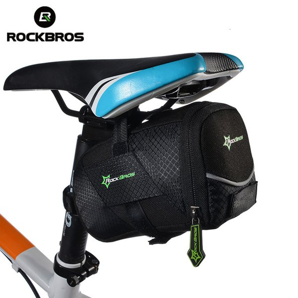 ROCKBROS Bicycle Bag Lid Shockproof Folding Ultralight Reflective Suitable Bags mtb Cycling Rear Seatpost Tail Pouch Bike Bag