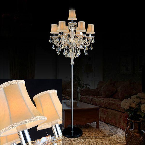 2019 Indoor Lights Crystal Floor Lamp Living Room Modern Floor Lamps  Bedroom Led Light Standing Industrial Light Switch From Burty, $814.64 | ...
