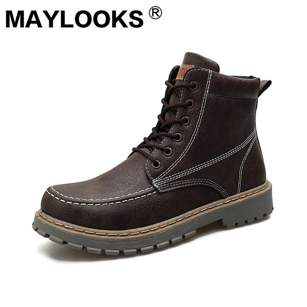 Martin Boots 2018 Autumn And Winter Trend Warm Men'S Boots Desert Boots Fashion England Trend Shoes Retro Men'S Shoes Skechers Boots Mid Calf Boots