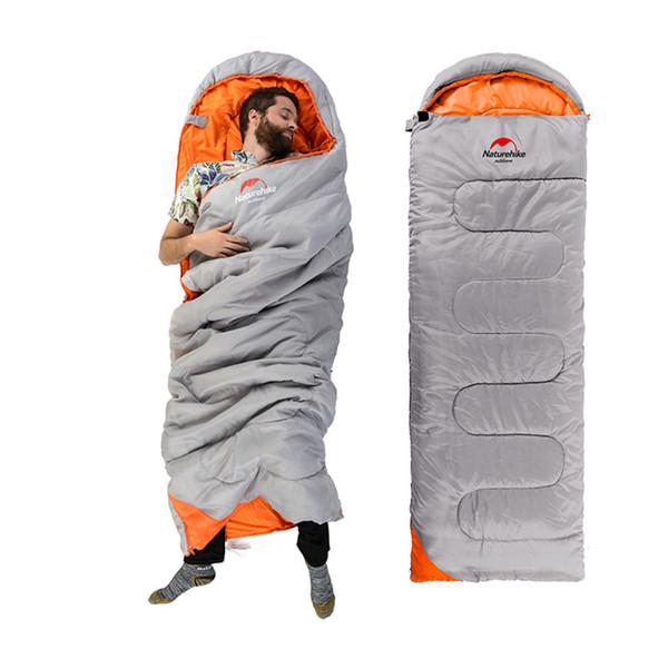 NatureHike camping sac de couchage en coton ultra-léger multifonctions portable voyage en plein air randonnée enveloppe sac de couchage avec chapeau