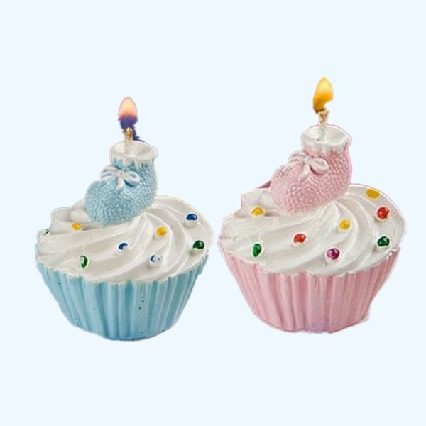 Baby Shower Candles Cupcake and Shoes Design Cake Candles for Baby Birthday Gift Wedding Party Supplies Free shipping