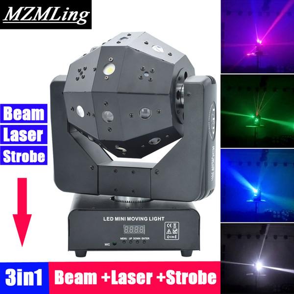 3in1 Strahl / Laser / Blitzlicht 16x3w Moving Head Licht Fußball DMX512 Laser DJ / Bar / Party / Show / Bühne