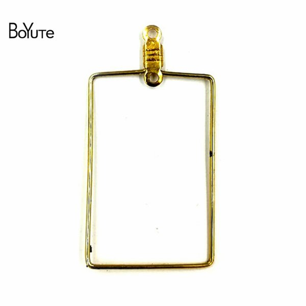 BoYuTe 50 Pcs 20*30 MM Metal Steel Stainless Square Wire Accessories Earring Hoops for Jewelry Making