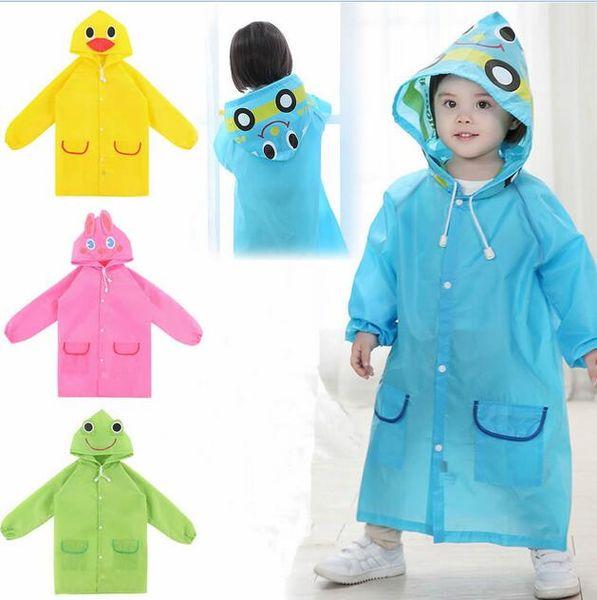 Funny Raincoat New Baby Waterproof Cute Cartoon Hot Children Rainwear Kids