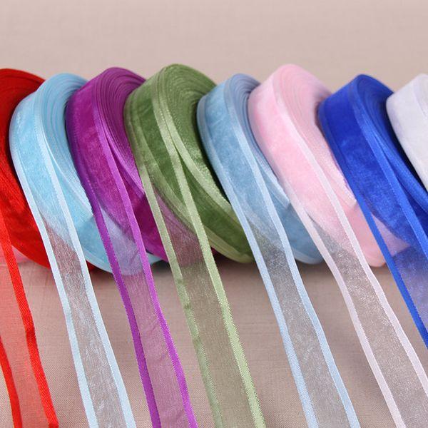 "best selling 27 colors choose 1"" 3 4''(19mm) Satin Edge Organza Ribbon Broadside organza ribbons wholesale gift wrapping decoration ribbons 100 yards"