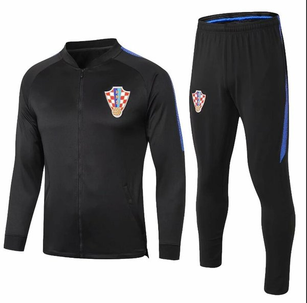 Yeni Modric Eşofman ceket seti Futbol setleri 18 19 dünya kupası PERISIC RAKITIC MANDZUKIC Futbol üniforma satış Eğitim suit Spor chandal