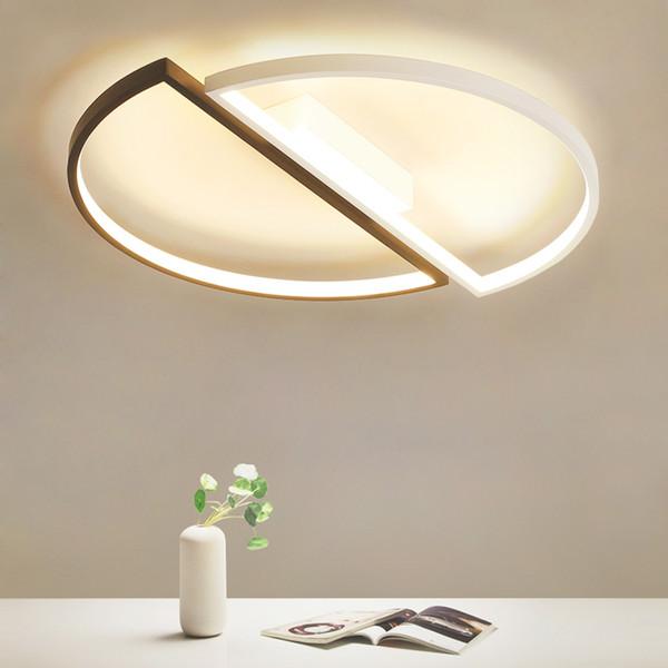 Großhandel Moderne LED Deckenleuchten Dimmbare Deckenleuchte Für Wohnzimmer  Erröten Einfassung Innenbeleuchtung Schlafzimmer Küche Badezimmer Von ...