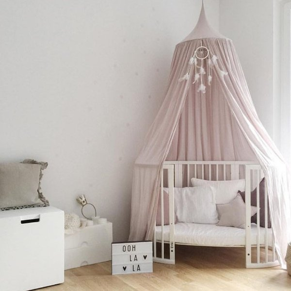 NEW Crib Netting Baby Tents KID Bed Curtain Children Room Decoration Cotton Hung Dome Baby Mosquito Net Photography Props DBY002