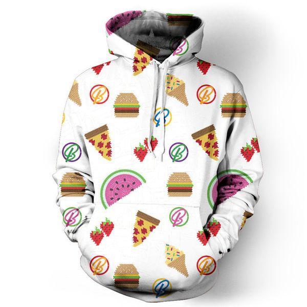 Funny Fruit 3D Hoodie Sweatshirt Ice Cream Cartoon Tracksuit Pullover Men Casual Hip Hop Hoody Tops Cute Lovely Boy Streetwear
