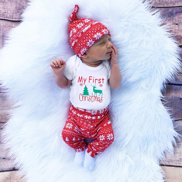 2019 Cute Newborn Clothing Set Baby Boy Girls First Christmas Clothes Infant  Romper Pants Hat Outfit From Bosiju, $27.48 | DHgate.Com - 2019 Cute Newborn Clothing Set Baby Boy Girls First Christmas
