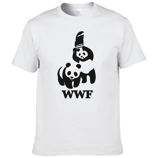 Wholesale-WEWANLD WWF Wrestling Panda Comedy Short Sleeve Cool Camiseta T Shirt Men T Shirt Summer Fashion Funny T-shirt #188