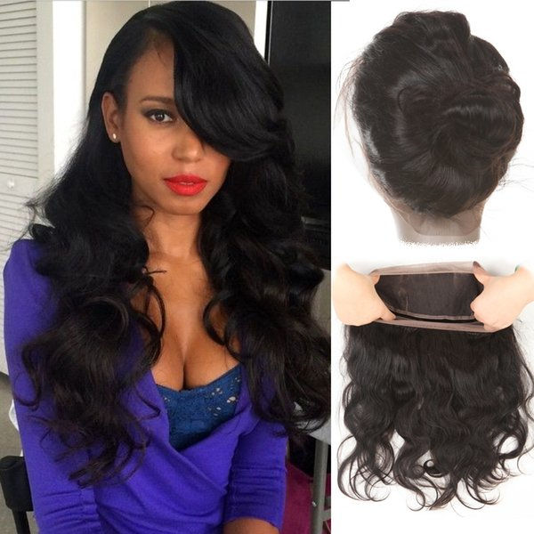 ZSF 8A 100% Malaysian Virgin Hair 1pcs 360 Lace Closure With Body Wave Hair Extension Hot Selling Natural Color Hair