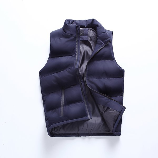 New Solid Color Fashion Warm Men Vest Jacket Quality Cotton Casual Male Vests Mens Windproof Waistcoat Sleeveless Jacket for Men