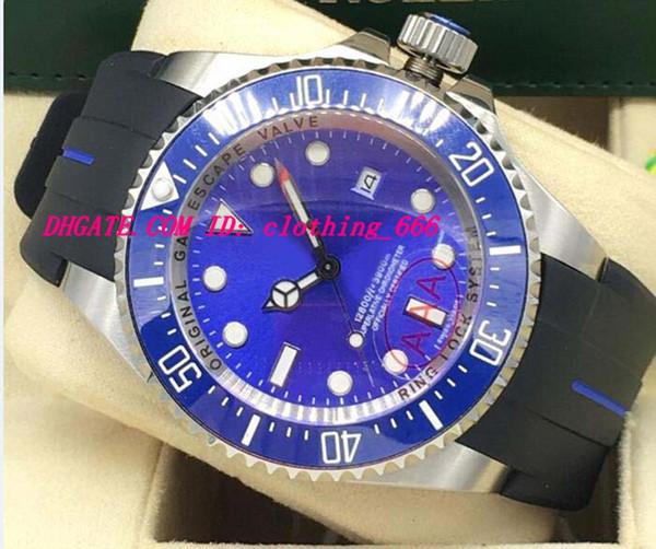 Luxury Watches 6 Style STAINLESS STEEL Ceramic Bezel RUBBER Bracelet WATCH 44MM 116660 Automatic Fashion Men's Watch Wristwatch