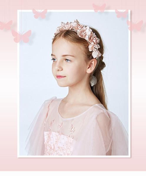 Гирлянда детский Европейский и американский стиль глава ювелирные изделия оголовье ленты невесты аксессуары цветок девушка волос группа B 01
