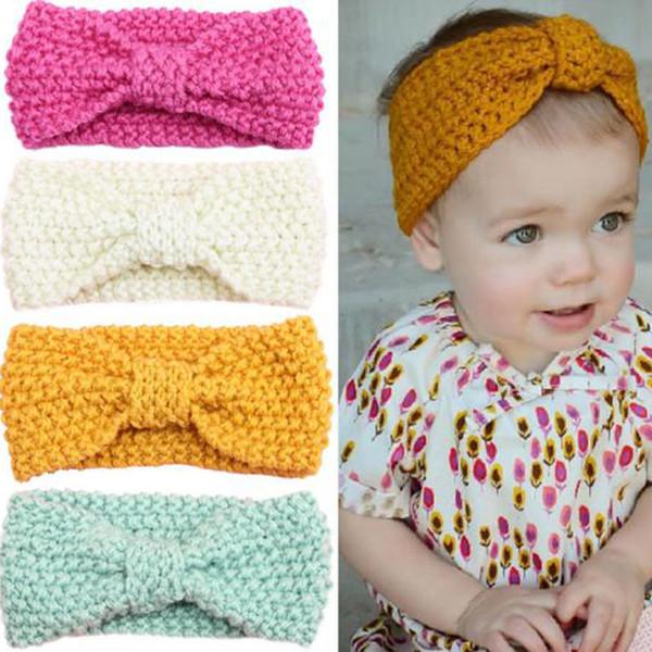 Baby Bows Baby Flower Headbands Nylon Headband Turban Earmuffs Knitted Headband Baby Girl Headband Newborn Girl Bow Princess Headband