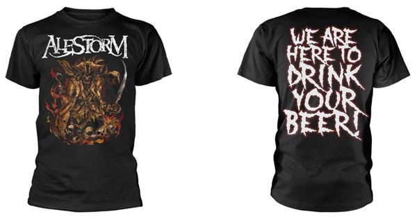 Alestorm 'мы здесь, чтобы выпить ваше пиво' футболка - новый официальный