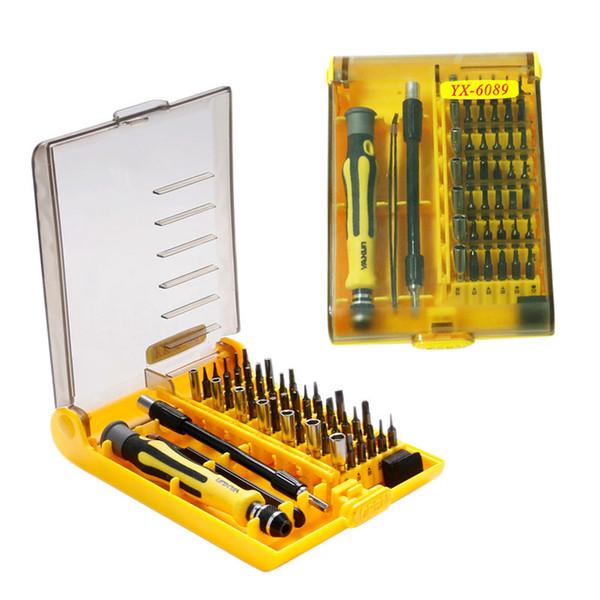 45 in 1 Uhrwerkzeuge Präzisions-Multifunktions-Schraubendreher-Set Reparatur Öffnungswerkzeug-Kits Fix Telefon / Laptop / Smartphone / Uhr mit Box-Gehäuse